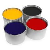 Colore del torchio tipografico Fotografia Stock