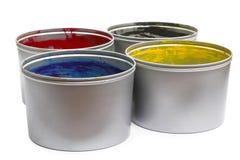 Colore del torchio tipografico Immagine Stock