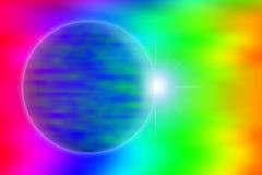 Colore del vento ed effetto astratti del pianeta Immagini Stock