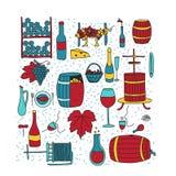 Colore del vino di scarabocchio Fotografia Stock