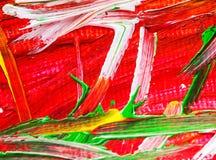 Colore dell'acrilico dell'acqua dell'estratto del fondo della pittura acrilica di arti Fotografia Stock