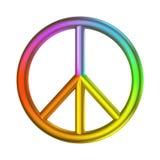 Colore dell'arcobaleno del segno di pace e di amore Fotografie Stock Libere da Diritti