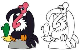 COLORE dell'avvoltoio e BW diritti Immagini Stock Libere da Diritti