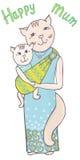 Colore dell'imbracatura della mummia del gatto Fotografie Stock Libere da Diritti