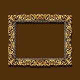 Colore dell'oro della pagina con ombra Fotografia Stock