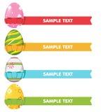 Colore della cornice del nastro dell'uovo di Pasqua Fotografie Stock