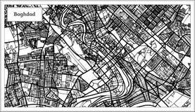 Colore della mappa della città di Bagdad Irak in bianco e nero Immagini Stock