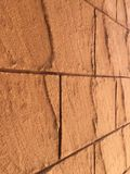Colore della parete del fondo arancio o marrone immagine stock libera da diritti