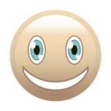 Colore della pelle di sorriso Fotografia Stock Libera da Diritti