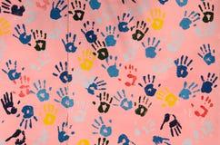 Colore della traccia della mano sulla parete Immagine Stock Libera da Diritti