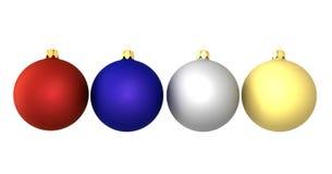 Colore delle sfere del nuovo anno Fotografia Stock Libera da Diritti
