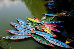 Colore des bateaux Image libre de droits