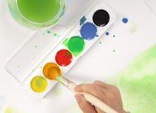 Colore di acqua Immagini Stock