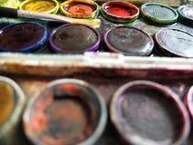 Colore di acqua per creatività dei bambini Fotografie Stock
