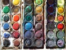 Colore di acqua per il giovane pittore Immagine Stock