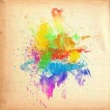Colore di acqua su vecchia struttura di carta Fotografie Stock