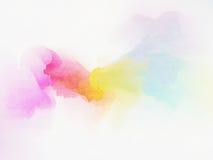 Colore di acqua variopinto astratto per fondo Fotografie Stock Libere da Diritti