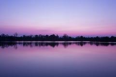 Colore di alba Chiangmai Tailandia Immagine Stock