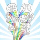 Colore di burst di spirale Immagine Stock