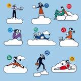 Colore di calcolo delle siluette della nube Immagine Stock
