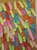 Colore di carta per appunti Immagine Stock