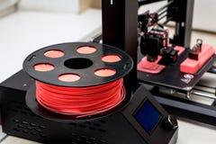 Colore di corallo del filamento per stampa 3d Fotografie Stock Libere da Diritti