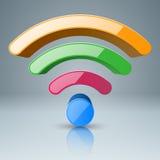 colore di foou dell'icona di 3d Wi-Fi Immagine Stock