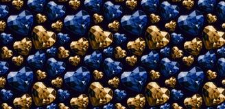 Colore di forma del cuore delle pietre di gemme del modello dell'illustrazione illustrazione di stock