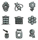 Colore di Honey Icons Freehand 2 Immagini Stock Libere da Diritti