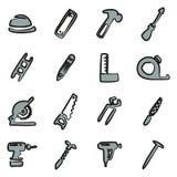 Colore di Icons Freehand 2 del carpentiere Immagine Stock Libera da Diritti