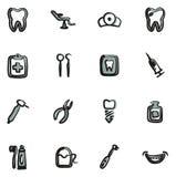 Colore di Icons Freehand 2 del dentista Immagine Stock