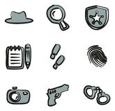Colore di Icons Freehand 2 dell'agente investigativo Fotografia Stock