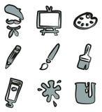 Colore di Icons Freehand 2 dell'artista Fotografie Stock