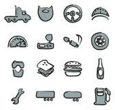 Colore di Icons Freehand 2 dell'autista di camion Fotografia Stock