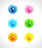 Colore di logo del globo Fotografie Stock Libere da Diritti