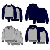 Colore di maglie con cappuccio Fotografia Stock Libera da Diritti