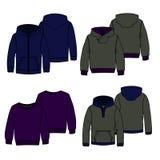 Colore di maglie con cappuccio 2 Immagine Stock