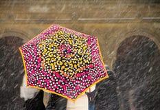 Colore di neve Fotografia Stock