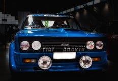 Colore di raduno del abart di Fiat 131 blu Fotografia Stock Libera da Diritti