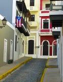 Colore di vecchio San Juan Fotografia Stock