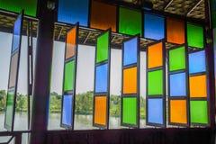 Colore di vetro fotografia stock