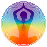 Colore di yoga Fotografia Stock Libera da Diritti