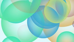 Colore differente del modello del fondo dell'estratto della bolla di Loopable 4K illustrazione di vista superiore 3D stock footage