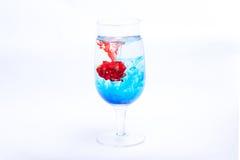 Colore do vidro de vinho Fotografia de Stock