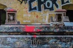 colore e graffiti su un altare Fotografia Stock Libera da Diritti