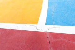 Colore e reticolo su terra futsal - 1 Immagini Stock Libere da Diritti