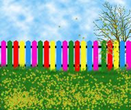 Coloreв fence Royalty Free Stock Photo