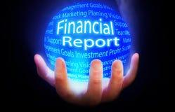 Colore finanziario di piano del fondo del globo di rapporto Immagini Stock Libere da Diritti
