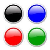 Colore fissato bottoni Fotografie Stock