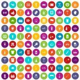 100 colore fissato della birra icone illustrazione di stock